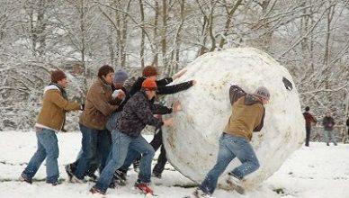 Comment faire grossir une boule de neige