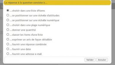 Types de question dans questionnaire-pro
