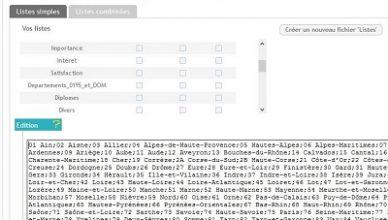 Listes prédéfinies du logiciel questionnaire-pro