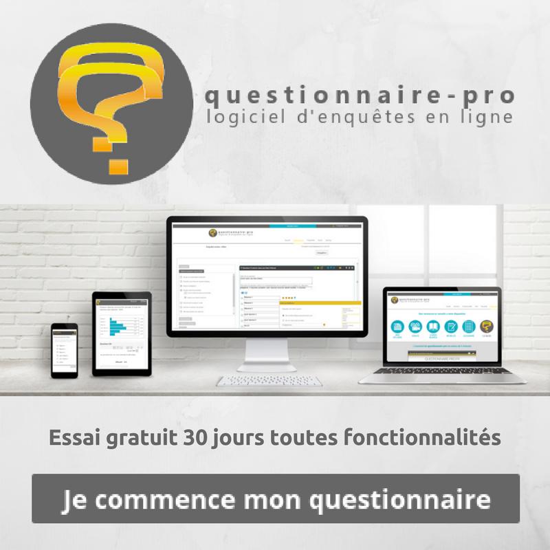 Logiciel questionnaire-pro : essai gratuit 30 jours toutes fonctionnalités