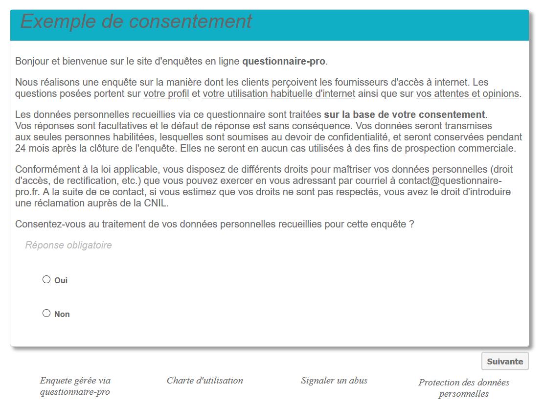 Exemple consentement RGPD questionnaire-pro