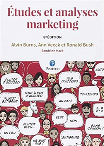 Couverture du livre intitulé Etudes et analyses marketing