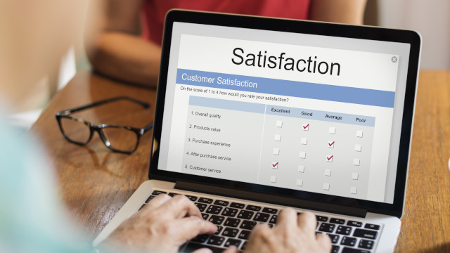 Illustration d'un questionnaire online de satisfaction client