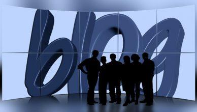 Illustration du mot blog avec personnages