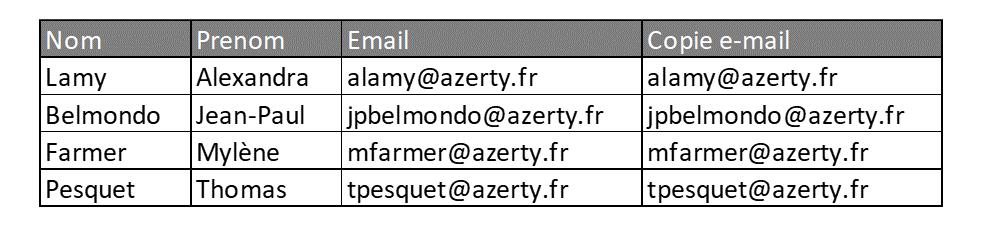 Exemple de fichier avec copie de l'e-mail en variable de qualification